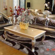 郑州欧式沙发客厅田园布艺沙发组合新古典沙发会所售楼部美容院家具 实木休闲沙发