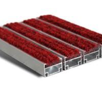 最好的红色毯面铝合金地毯供应厂家
