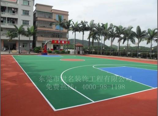 供应学校羽毛球场刷胶1,篮球场地坪漆最便宜哪种材料、看台楼梯刷漆