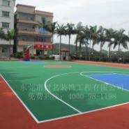 篮羽球场油漆施工图片