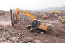 供应现代挖掘机出租承接大小土石方挖掘混凝土破碎批发