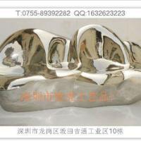 深圳软装配饰石料雕塑台不锈钢沙发