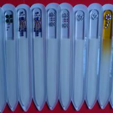 供应独家研发玻璃指甲锉玻璃蒙砂刀锋液