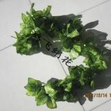 任丘市鸿飞绢花厂供应:仿真彩印西瓜叶藤,仿真叶藤,绢花
