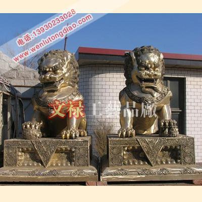 供应铜雕故宫狮子