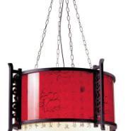 酒店工程灯具木艺客厅餐厅茶楼吊灯图片