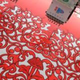 丝绸面料激光绣花切割一体机 桥架激光刺绣雕花切割机价格