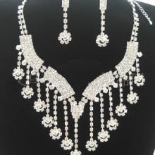 供应合金套链,新娘头饰 额饰品 新娘项链水钻套链皇冠发饰三件套