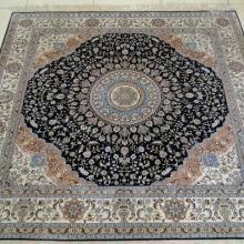供应方块地毯真丝材质手工编织而成批发