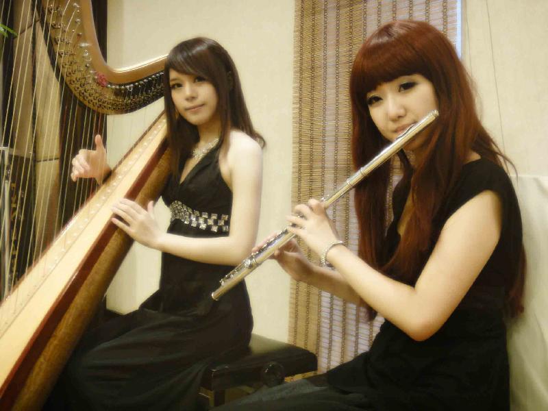 美女 珠海/佛山竖琴表演中山珠海激光竖琴 美女竖琴图片