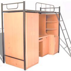学生公寓家具厂家批发学生床书柜图片