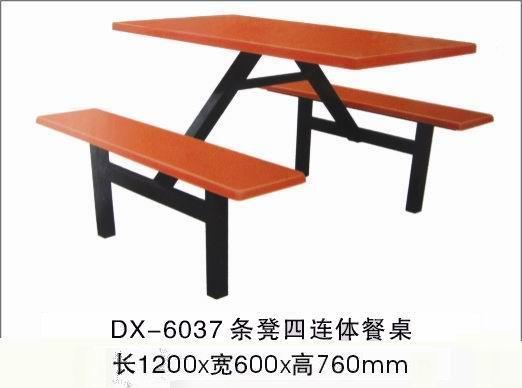 供应鹰潭餐桌钢木餐桌椅