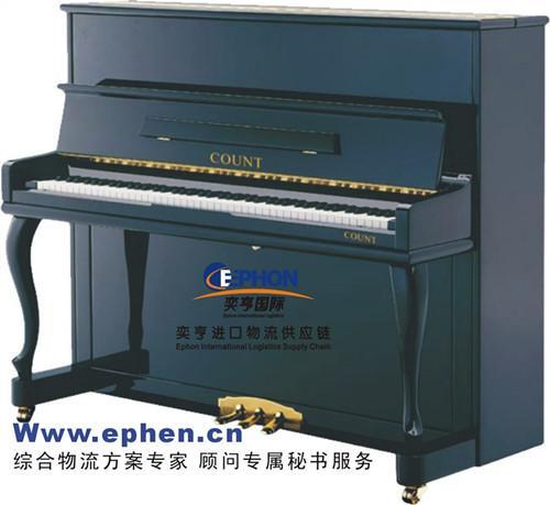 二手YAMAHA钢琴进口报关代理/旧钢琴进口清关备案代理