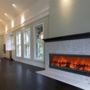 大型火焰壁炉图片