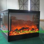 4面火焰四视窗观火电壁炉图片
