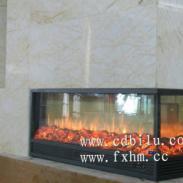 冠军瓷砖国际展厅三面火焰伏羲壁炉图片