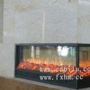 冠军瓷砖苏州国际展厅指定伏羲壁炉图片