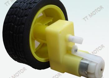 带轮胎的的N20减速电机图片