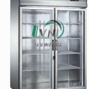 厨房制冷设备玻璃门冷藏柜图片