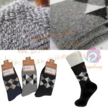供应羊毛袜厂提花加厚毛圈男士羊毛袜子加厚毛圈羊毛提花男袜批发