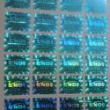 洗铝防伪商标激光电码标签图片