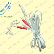 供应一出四插针电极线安规插头,理疗电极线图片