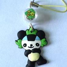 供应PVC卡通手机绳挂件吉祥物手机挂件