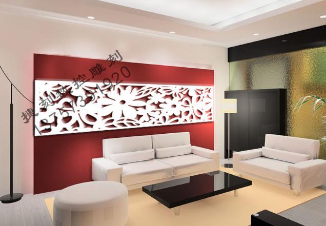 供应J3D雕花板/镂空板/背景墙隔断屏风