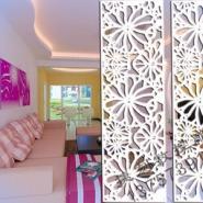 供应J05雕花板/PVC镂空板/背景墙/隔断