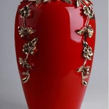 供应厂家直销手工捏花陶瓷花瓶 寄花花瓶 梅花花瓶 家居饰品