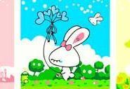 湖北宜昌蒙娜丽莎数字油画兔宝宝图片