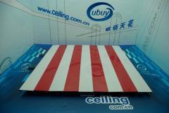 供应广州防风铝条扣板厂家,加油站专用S型300面高边防风铝条扣板,热销防风铝条扣板