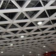 木纹三角铝格栅图片