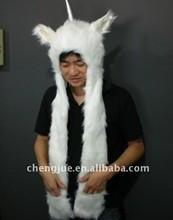 供应毛绒动物帽子