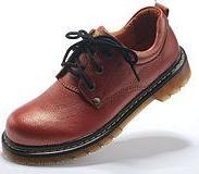 复古格纹牛筋底女鞋图片