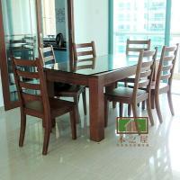 供应清远实木家具实木餐桌椅 图片|效果图