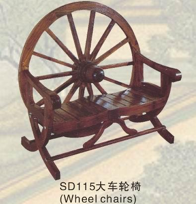 供应古典实木家具酒吧咖啡茶馆大车轮椅