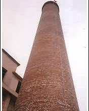 丝绸厂烟囱拆除