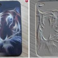 苹果4手机套iphone4手机壳4S浮雕图片