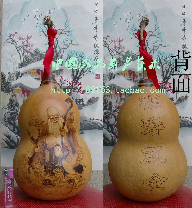 刘国栋美女烙画葫芦_葫芦烙画寿星图片图片展示