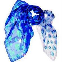 供应蓝色丝巾