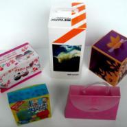 彩印胶盒PP彩色透明塑料盒图片