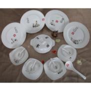 骨瓷艺学餐具套装A款16头图片