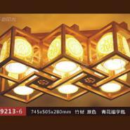 竹材陶瓷吸顶灯图片