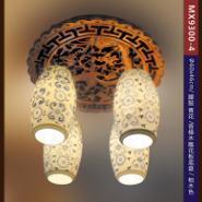 木艺雕花陶瓷吸顶灯图片