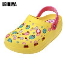 供应纤体健水印点点花园鞋洞洞鞋EVA