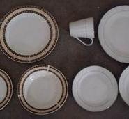 16头白瓷烤花陶瓷餐具图片