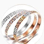 克徕帝18K素金戒指图片
