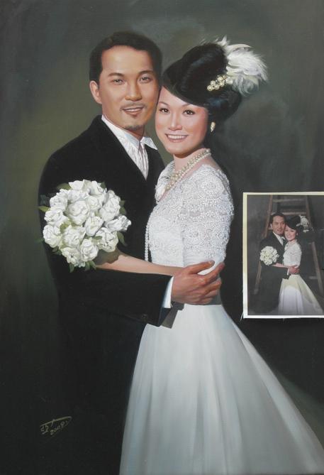 供应手绘情侣油画