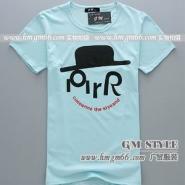 韩版男式T恤批发个性男装T恤批发图片